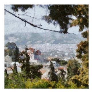 アテネの眺めかなり上から ポスター