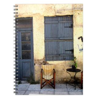 アテネの通りのテラス ノートブック