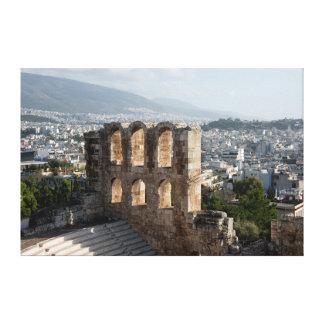 アテネを見落とすアクロポリスの古代台なし キャンバスプリント