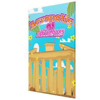 アテネギリシャ旅行ポスターのアクロポリス キャンバスプリント