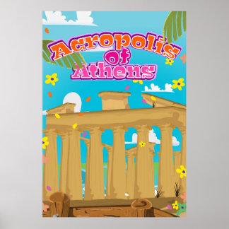 アテネギリシャ旅行ポスターのアクロポリス ポスター