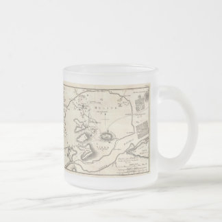アテネギリシャ(1784年)のヴィンテージの地図 フロストグラスマグカップ