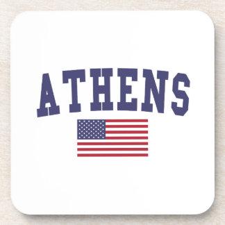 アテネ米国の旗 コースター