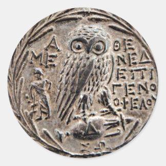 アテネ銀製のTetradrachm ラウンドシール