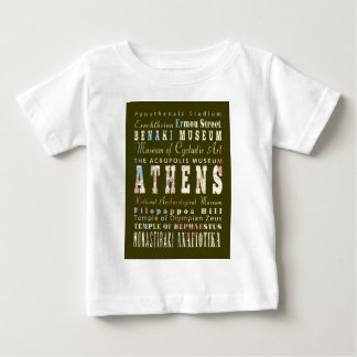 アテネ、ギリシャの魅力そして有名な場所 ベビーTシャツ