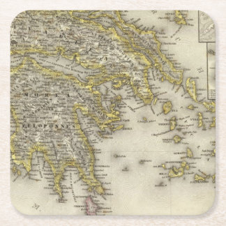 アテネ、ギリシャ スクエアペーパーコースター