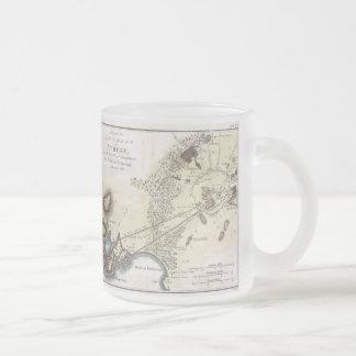 アテネ(1784年)のヴィンテージの地図 フロストグラスマグカップ
