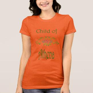 アテーナーのフクロウの神人のギリシャ神話の子供 Tシャツ