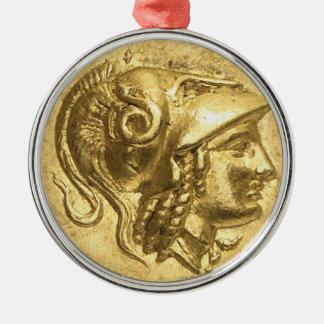 アテーナーの古代硬貨 メタルオーナメント