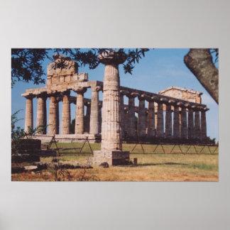 アテーナーの寺院 ポスター