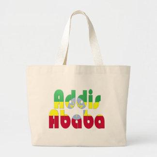 アディスアベバ、エチオピア ラージトートバッグ