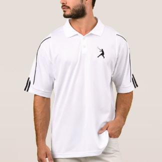 アディダスのテニスのポロ男性への の白 ポロシャツ