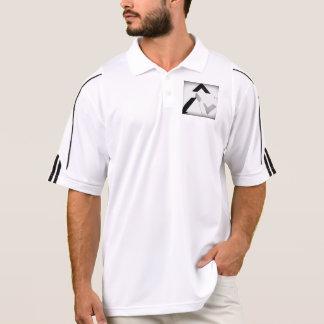 アディダスの黒、白いそして灰色のGOFLDのワイシャツ ポロシャツ