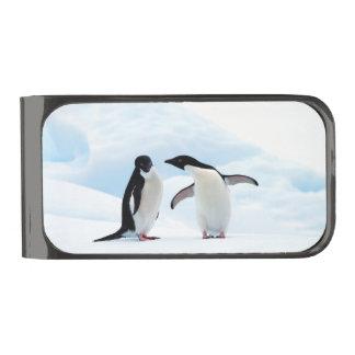アデリーペンギン ガンメタル マネークリップ