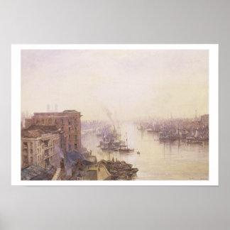 アデレードのホテル、ロンドン橋からのプール ポスター