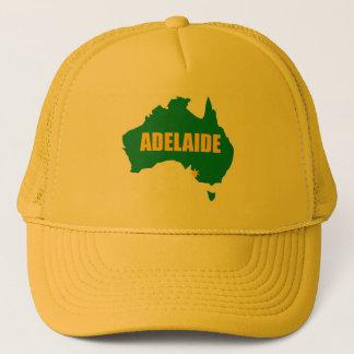 アデレードの緑および金ゴールドの地図の帽子 キャップ