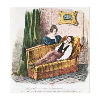 アデールのd'Herveyの役割のMarieドーバル キャンバスプリント