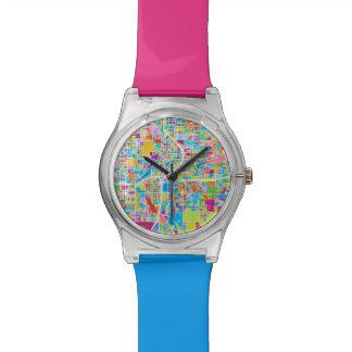 アトランタのカラフルな地図 腕時計