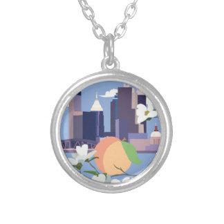 アトランタの円のネックレス シルバープレートネックレス