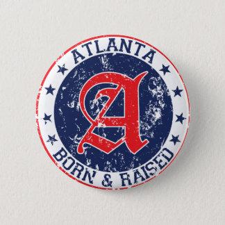 アトランタの生まれ、上げられた青 缶バッジ