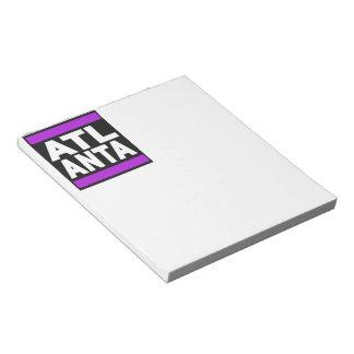 アトランタの紫色 ノートパッド