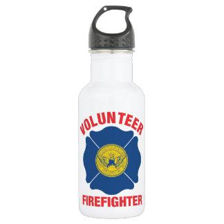 アトランタのGAの旗のボランティアの消防士の十字 ウォーターボトル
