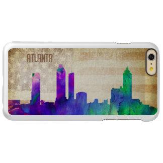 アトランタのGA |の水彩画都市スカイライン INCIPIO FEATHER SHINE iPhone 6 PLUSケース