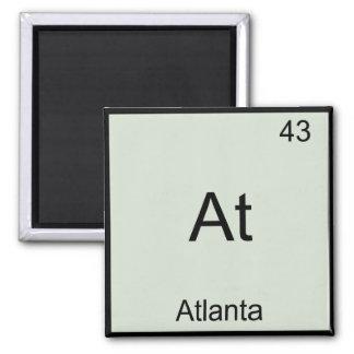 -アトランタ都市化学要素の記号のTシャツ マグネット