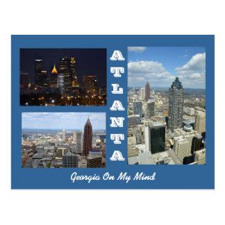 アトランタ、ジョージアの都市景観の郵便はがき ポストカード
