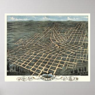 アトランタ、ジョージア- 1871年の(A. Ruger) BigMapBlog.com ポスター