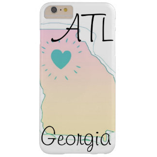 """アトランタ""""ATL GA""""のローカルプライドの電話箱 BARELY THERE iPhone 6 PLUS ケース"""