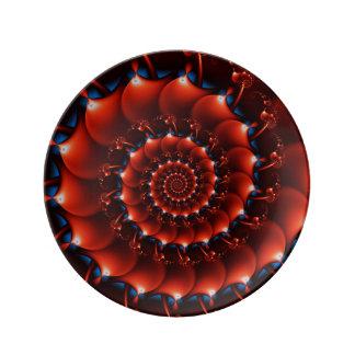 アトランティスの貝殻(オレンジ) 磁器プレート