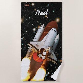 アトランティスの進水STS-45 -名前をカスタムする ビーチタオル