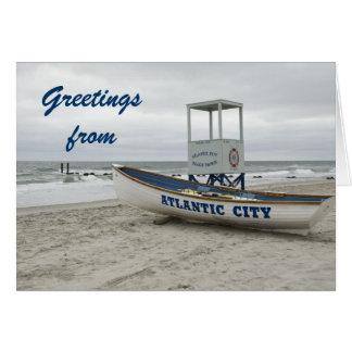 アトランティック・シティニュージャージーからの挨拶 カード