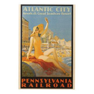 アトランティック・シティWoodSnapへのペンシルバニアの鉄道 ウッドウォールアート