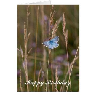 アドニスの青い蝶-誕生日の挨拶状 カード