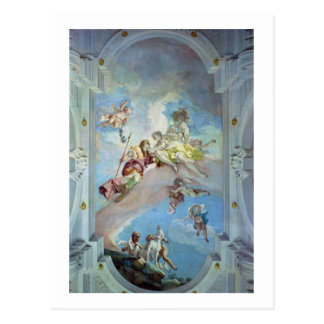 アドニス1707-08年からの金星の分割(フレスコ画) ポストカード