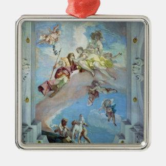 アドニス1707-08年からの金星の分割(フレスコ画) メタルオーナメント