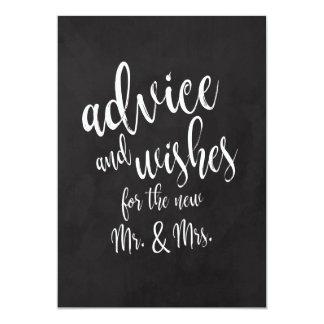 アドバイスおよび願いの手頃なChalkcoardの印 カード