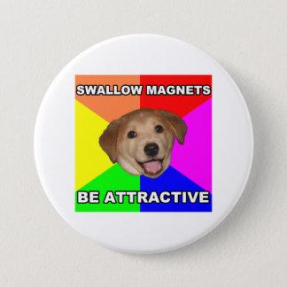 アドバイス犬のつばめの磁石 7.6CM 丸型バッジ