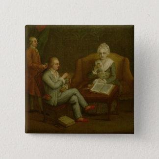アドリアーナGiustinian Barbarigoおよび彼女の息子Gerolamo 5.1cm 正方形バッジ