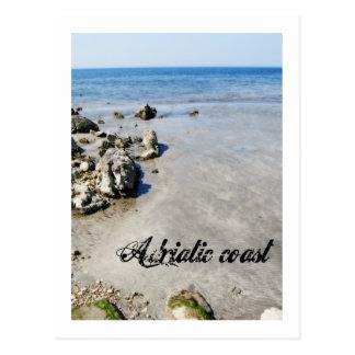 アドリア海の海岸 葉書き