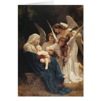 アドルフウィリアムBouguereau。 天使の歌 カード