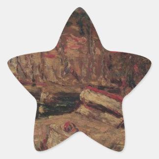 アドルフヨセフトマスMonticelli著Cassisの港 星シール