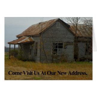 アドレス変更カード: 来られる私達を訪問して下さい カード