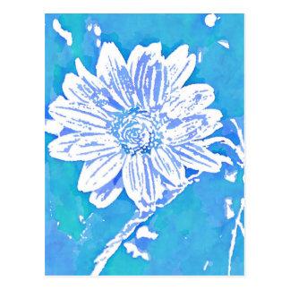 アドレス変更ポップアートの青flower| ポストカード