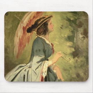 アナの芸術家の娘1860年のポートレート マウスパッド