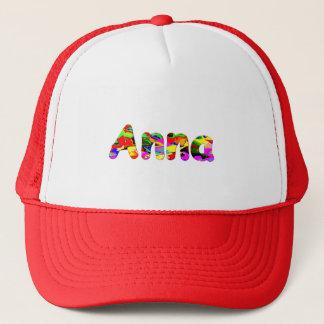 アナの赤く白いトラック運転手の帽子 キャップ