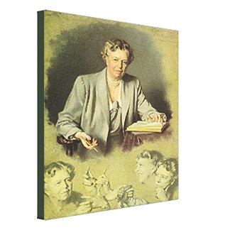 アナエレノア・ルーズベルト最初女性 キャンバスプリント
