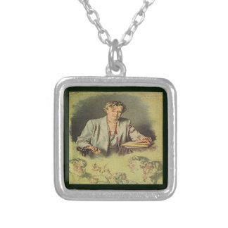 アナエレノア・ルーズベルト最初女性 シルバープレートネックレス